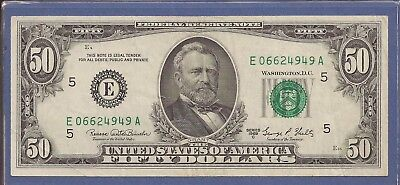 1969 C $50 Federal Reserve Note (FRN),E-Richmond,Green Seal,CH Very Fine,Nice!