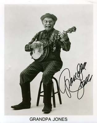 GRANDPA JONES PSA DNA Hand Signed 8x10 Photo Authentic Autograph
