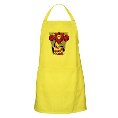 CafePress Retro Flying Iron Man Apron Full Length Cooking Apron (1269906757)
