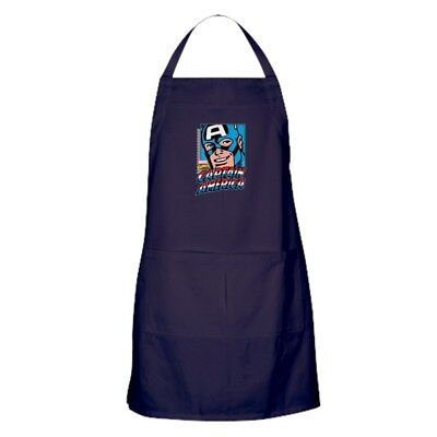 CafePress Captain America Smiling Kitchen Apron (1272958183)