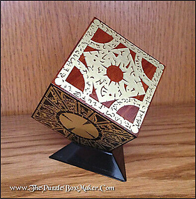 Hellraiser Puzzle Box - Etched Brass - Solid Mahogany - Lament Configuration