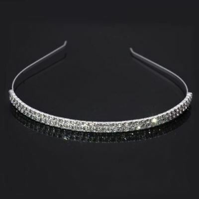 2 laps Crystal headwear Silver plated Wedding Jewelry Bridal Accessories