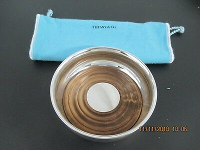 Tiffany & Co. Sterling Silver Bottle Coaster With Wood Insert