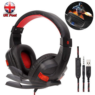 Multi-Function 3.5mm Wired Gaming Headset for PS4 Xbox One Nintendo Switch Mac