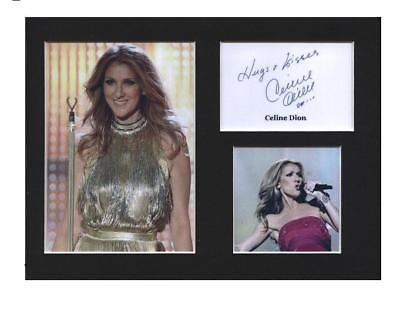 Celine Dion signed printed autograph photo print mounted gift display #B0