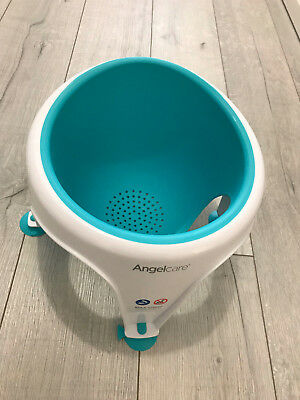 Angelcare Soft Touch Baby Bath Seat Support Aqua Blue