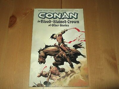 Conan Blood Stained Crown Graphic Novel Paperback Dark Horse Good Condition