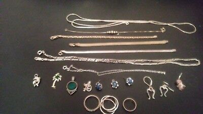 Lot of Sterling Silver 925 Jewelry Scrap/Not Scrap 50 Grams All Tested