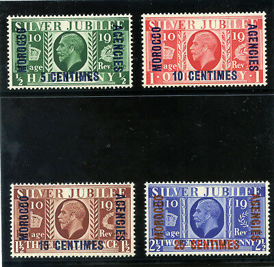 Morocco Agencies 1935 KGV Silver Jubilee set complete MLH. SG 212-215.