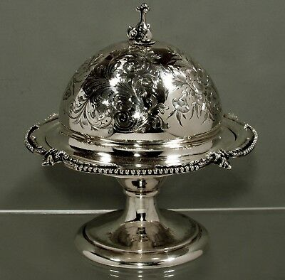 Eoff & Shepard Sterling (950) Butter Dish       c1850  NEW YORK  -  MUSEUM -