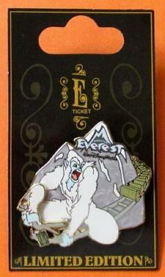 Disney Pin WDW  E Ticket Attractions Yeti Expedition Everest  3D LE NOC