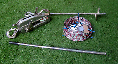 Tirfor Winch TU16 C/W Rope, Land Anchor & Handle REF 7138C