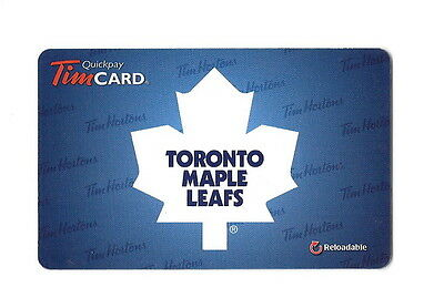 NHL 2012 Toronto Maple Leafs Collectible Tim Hortons Gift Card $0 Value FD26602