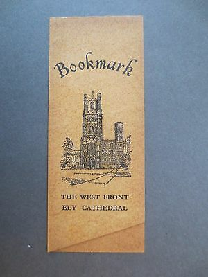 Vintage BOOKMARK ELY CATHEDRAL R J Dymond RJD West Front Parchment