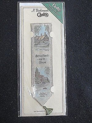 Cash's Silk BOOKMARK Stevengraph Stratford Upon Avon Shakespeare Theatre Unused