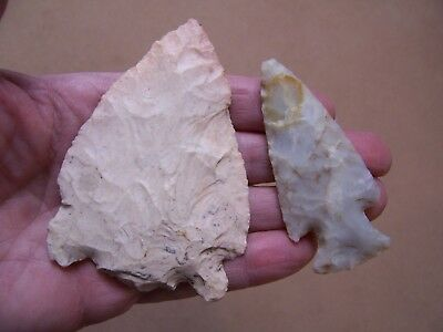 Two Nice Authentic Hopewell Points From Southern Indiana Collection