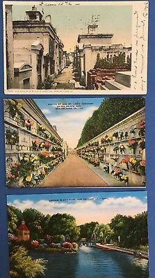 Louisiana Postcards - Lot of 9 - New Orleans