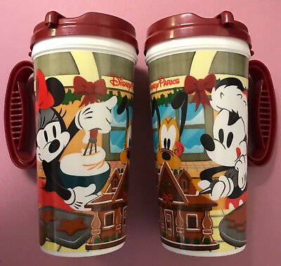 Disney Park DLR 2018 Mickey Minnie Pluto Holiday Christmas Travel Coffee Cup Mug
