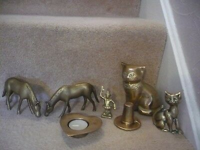 A Job Lot Of Vintage Brass Items A Superb Lot Indeed