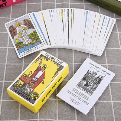 78Pcs Rider Waite Tarot Deck Board Game Boxed Playing Card Set