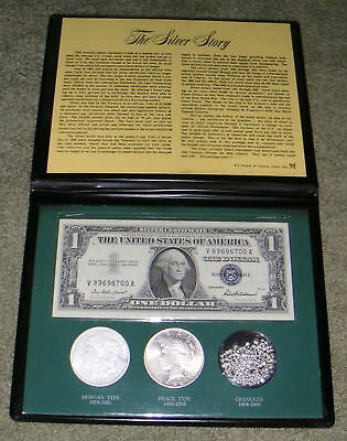 United States The Silver Story Morgan & Peace Silver Dollars Certificate Grains