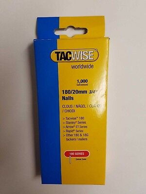 Tacwise code 0360. 18 Gauge Straight Galvanised 20mm Brad Nails/Finish Nails