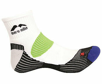 More Mile London Running Socks Black Mens Womens Cushioned Sports Trainer Sock