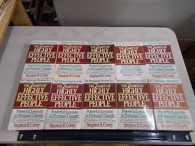 10 Copies Of The 7 Habits Of Highly Effective People By Stephen R Covey Trade Pb