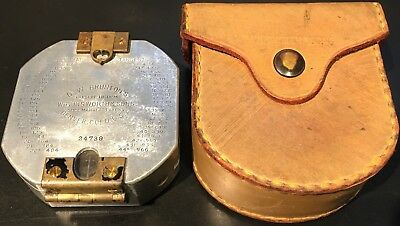 D.W. Brunton 1930 Aluminum Pocket Transit Compass by Wm. Ainsworth & Sons #24739
