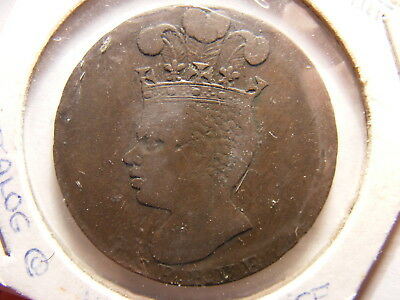 Barabdos 1788 Penny (Cent), VF+/XF (for issue), KM#Tn8
