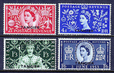 Morocco Agencies — Scott 579-582 — 1953 Qeii Coronation Set — Mnh — Scv $7.40