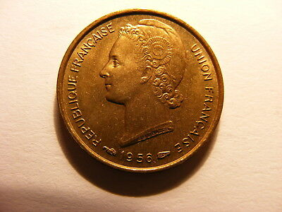 Togo, West Africa (French), 1956, KM#6, 5 Francs, UNCIRCULATED