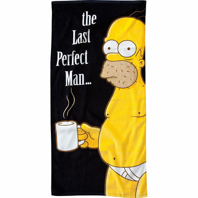 Simpsons Handtuch The Last Perfect Man Strandtuch Homer Simpson Beach Towel NEU