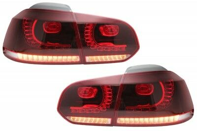 Coppia Fari Fanali Posteriori Tuning VW Golf VI 6 GTI Look 08-12 ROSSI FULL LED