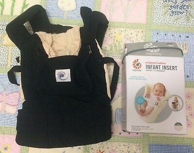 0454656303a Ergobaby Original Ergo Baby Carrier black Camel with infant insert 3  positions