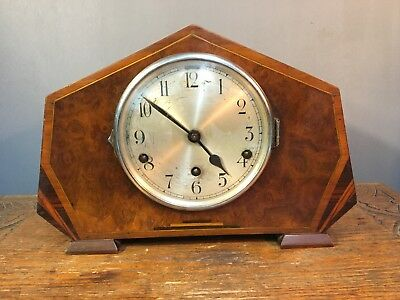 Antqiue Art Deco Chiming Mantle Clock