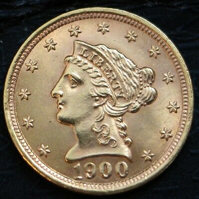 1900 $2 1/2 Liberty Gold Coin.. Ch/gem Bu