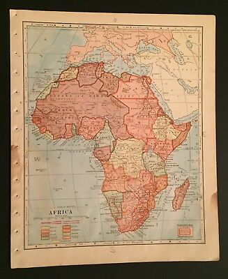 Map of Africa 1917