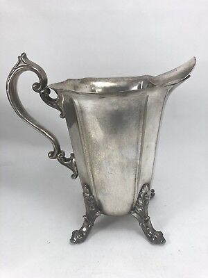 """FEDERAL SILVER CO PITCHER 8"""" Vintage SILVERPLATED FOOTED JUG New York USA Art"""