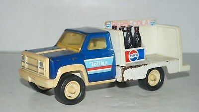 Vintage TONKA USA PEPSI COLA ADVERTISING PRESSED STEEL DELIVERY TRUCK