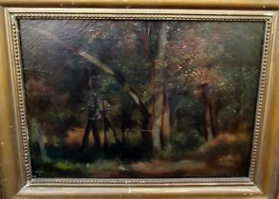 After THEODORE ROUSSEAU 1812-1867 Antique French Barbizon Oil Painting c1850