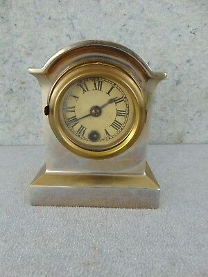 Old 1800S Antique New Haven Arch Top Wee Wag Shelf Mantle Clock Runs