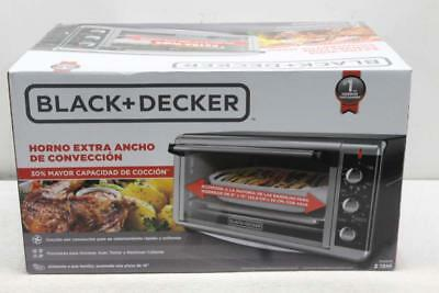 Black + Decker TO3250XSB Extra-Wide 8-Slice Toaster Oven,Stainless Steel/Black