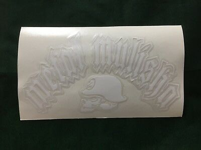 "-Free Shipping Metal Mulisha stickers 6 inch /"" Skull W /""  Sticker"