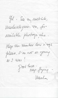 URSULA K. LE GUIN - author,  GENUINE HAND WRITTEN & HAND SIGNED NOTE