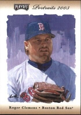 2003 (RED SOX) Playoff Portraits Bronze Baseball Card #141 Roger Clemens /100
