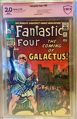 Fantastic Four #48 CBCS 2.0 Signed Stan Lee 1st Appearance Of Silver Surfer CGC