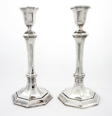 """Vintage Tiffany & Co. SOLID Sterling Silver Pair of Candlesticks 567g 7.25""""Tall"""