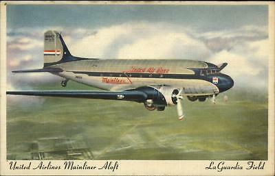 Montreal Airport Dorval Canada Airplane Postcard C 1940s