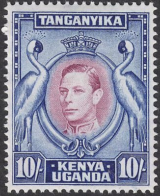 Kenya Uganda Tanganyika 1941 KGVI 10sh Reddish Purple and Blue p14 Mint SG149a